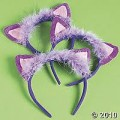 PLUSH CAT EARS FROM THE ORIENTAL TRADING COMPANY