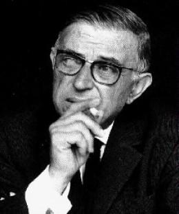 Jean-Paul Sartre. Don't stare.
