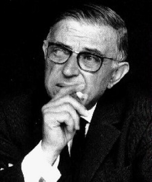 Jean-Paul Sartre. Don't stare.