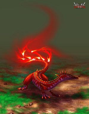 The powerful salamander elemental.