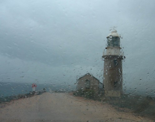 cape range Lighthouse - wet and wild