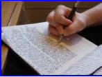 Writing away at the next masterpiece