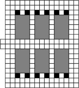The gray areas are the hidden rooms
