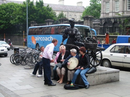 Molly malone still wheels her wheelbarrow