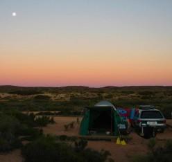 Moonrise over Cape Range
