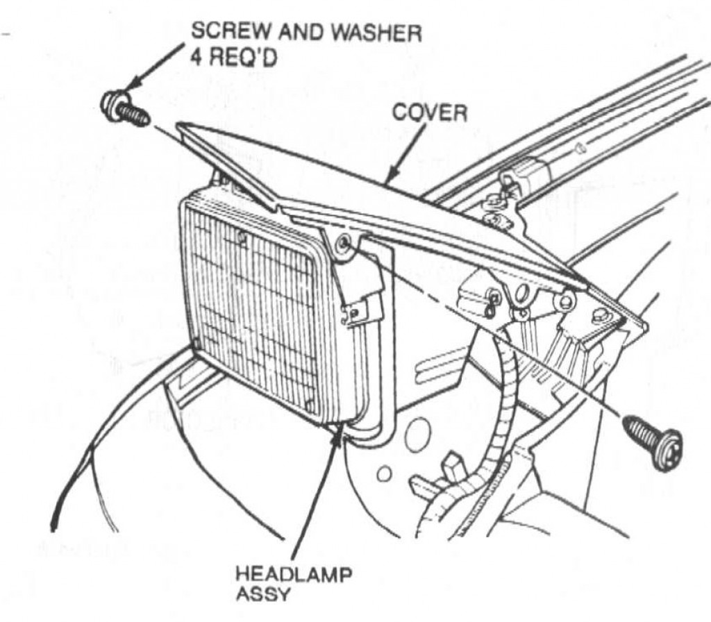 how to remove a headlight and motor in a 1991
