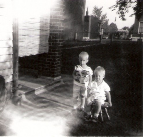My brother Rich and myself ..age 2 1/2 and 1 1/2.