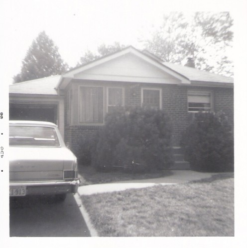 Our modest 2 bedroom home in Hanley Hills...the first house I remember and our 1965 Rambler Classic!