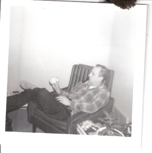 Dad relaxing in the living room.
