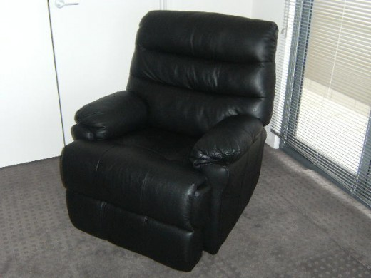 Reclining Chair with Folding Footrest
