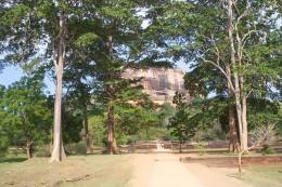 View walking up to Sigiriya Rock