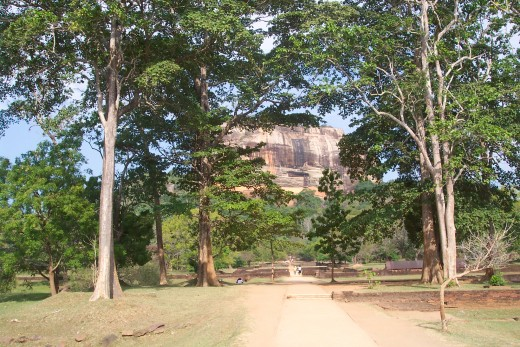 View walking up to Sigiriya Rock