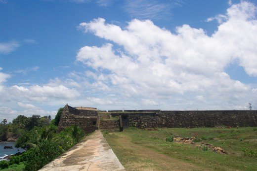 The remains of Galle Fort.