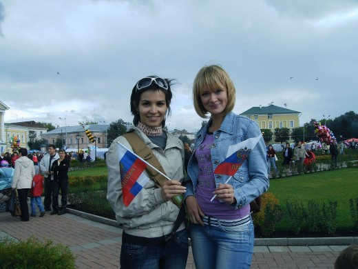 Me and my friend Marina at the City`s Day