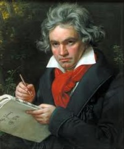 Ludwig Van Beethoven and deafness. Deaf musical genius. Triumph of greatness of spirit over adversity.