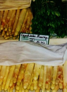 It was Spargel (asparagus) season!