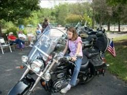 Future motorcycle mama with the Shadowriders!