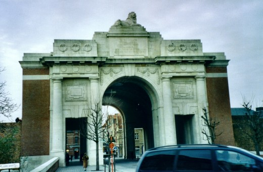 Menin Gate memorial to the British Empire and Commonwealth war dead from World War I, Ypres
