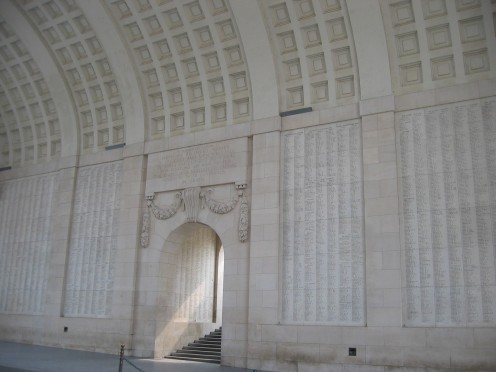 Interior of Menin Gate, Ypres