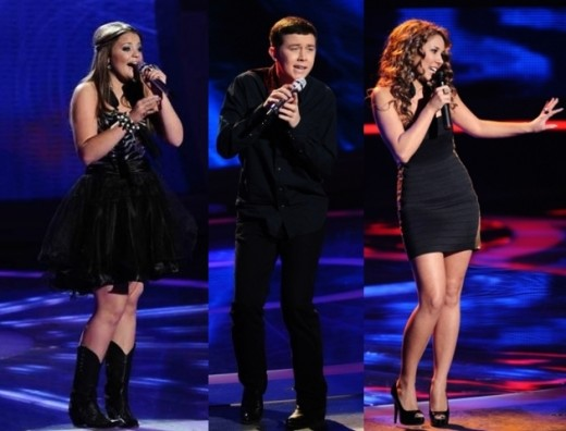 Lauren, Scotty, Haley - American Idol 2011 Top 3 Semifinalists