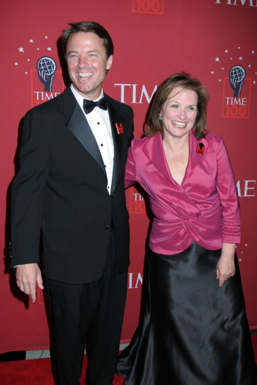 John Edwards with his wife Elizabeth, who died of breast cancer in 2010.