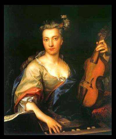 Portrait of a woman with a treble viol, c. 1720; Jan Kupeck [Public domain], via Wikimedia Commons