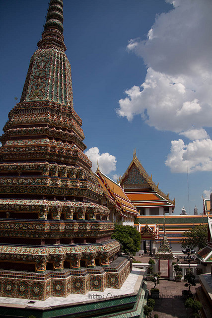 Wat Pho in Bangkok (get off at water taxi stop 8, cross river with shuttle boat)