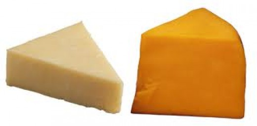 White and Yellow Cheddar Cheese