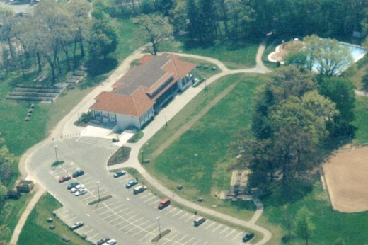 LaSalle Pavilion and Park about 1997 shortly after its reconstruction due to a fire earlier.