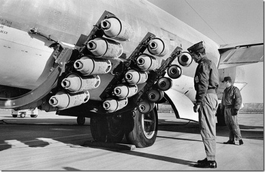 JATO assembly on a B-47 Stratojet