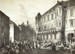 Nicolas Lies's 1834 drawing of the former government building, Luxembourg