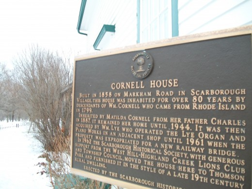 Plaque at Cornell House, Scarborough
