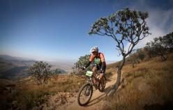 Rider in the Drakensberg foothills