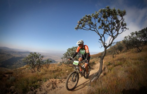 Rider in the Drakensberg foothills