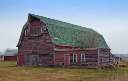 Mr. Zinc's barn - a big, old, red barn