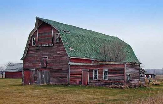 Mr. Zinc's barn - a big, old, red barn