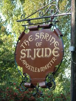 The shrine of St Jude in Faversham