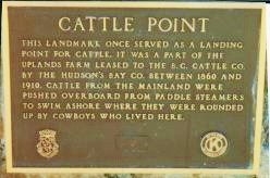 Sign at Cattle Point
