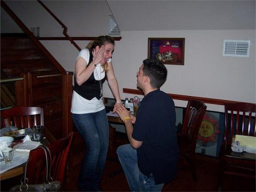 The proposal.  No, this wasn't staged.