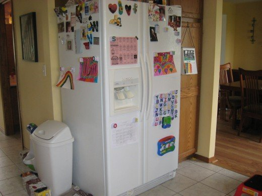 After 15 minutes my fridge was a much better place to display my daughters art.