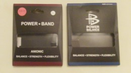 """The """"brandless"""" Power Band I bought at a flea market claims to be an anionic (negative ion) product. As you can see, they took great care to make it closely resemble the popular, name-brand Power Balance bracelet. (click to enlarge)"""