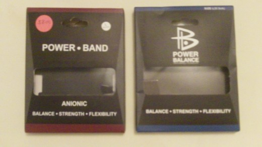 "The ""brandless"" Power Band I bought at a flea market claims to be an anionic (negative ion) product. As you can see, they took great care to make it closely resemble the popular, name-brand Power Balance bracelet. (click to enlarge)"