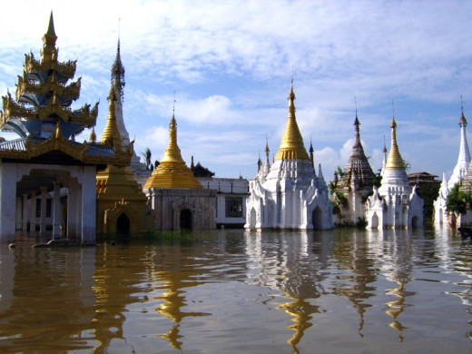 Buddhist Temple, Inle Lake, Burma