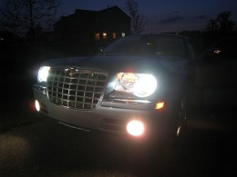 Chrysler 300 C AWD equipped with Xenon HID Headlights.