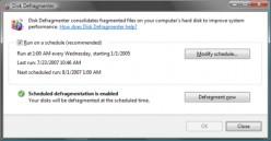 Windows Vista Defragmenter