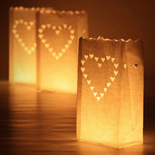 Heart Candle Bags are a fantastic addition to Weddings and Engagement Parties.