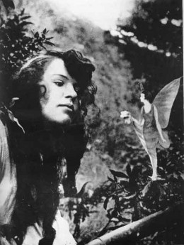 Elsie with a Cottingley Fairy
