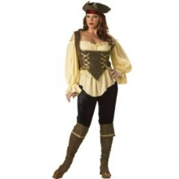 Rustic Plus Size Pirate Women's Costume