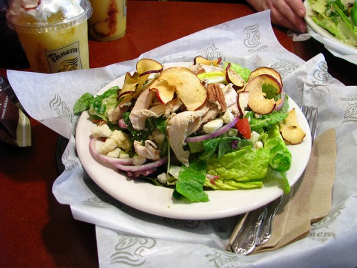 Panera Bread's Fuji Apple Salad. A great meal that is healthy and delicious.
