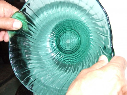 """My husband used a 1/2"""" Carbide Spear Point  Glass Drill Bit for the hole."""
